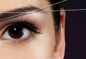 удаление волос нитью
