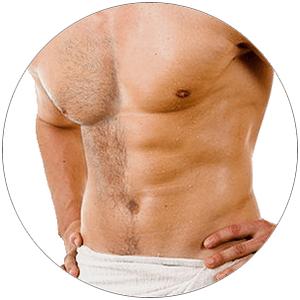 депиляция груди мужчин