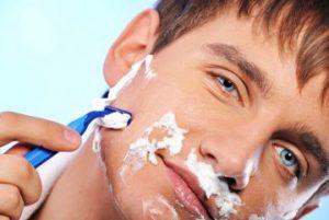 порезал родинку при бритье